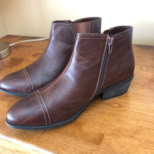 Shoes - Brown leather ankle boots